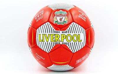 Мяч футбольный 5 гриппи Liverpool 6724 PVC, сшит вручную