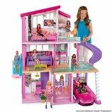 Игровой набор дом мечты Барби 3 этажа с лифтом и горкой Barbie Dreamhouse оригинал FHY73