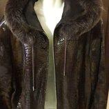 Куртка замша,кожа,песец-капюшон. Суперовая куртка-фирменная