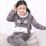 Зимние флисовые пижамы детские мальчик-девочка.
