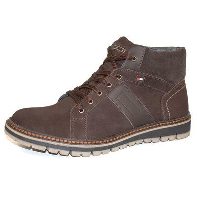 Ботинки кожаные зимние Multi-Shoes KS-1 Brown, 41-45р.