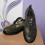 стильные кожаные туфли ilse jacobsen разм 38 по стельке 25 см Италия