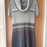 Мягкое и теплое вязаное платье 48-50-52