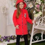 Детское пальто с капюшоном EV-288