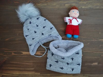 Зимний набор для мальчика Боинг . Трикотажная шапка и хомут  235 грн ... 7cf67d0b5621c