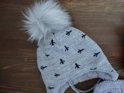 Зимний набор для мальчика Боинг . Трикотажная шапка и хомут  235 грн - шапки d77b7cf69c5a5