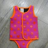 Indigo Kids Розовый купальник неопреновый,купальный боди,гидрокостюм,новый 6-12 мес