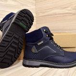 Ботинки унисекс зимние 35,36,37,38,39,размер, кожа, мех, новинка зима обнова