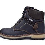 Ботинки унисекс зимние 40 размер, кожа, мех, скидка на последний размер