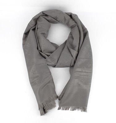 Палантин кашемировый серый двусторонний Louis Vuitton 8881-16  320 ... 773af6610c2