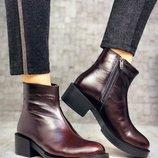 Женские зимние ботинки кожа и замша