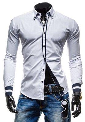 Рубашка мужская белая код 77