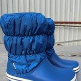 женские зимние сапоги Crocs Winter Puff Boot Женские сапоги дутики крокс Оригинал размеры с 38 по 39