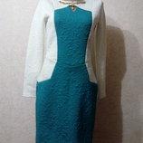 Комбинированное элегантное теплое платье