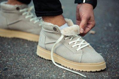 Ботинки зимние мужские South Navy ivory