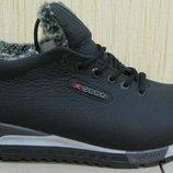 Качественные зимние мужские кроссовки кожа в стиле Ecco
