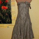 Платье вечернее нарядное цвет кофе с молоком бюстье размер 42-44 Coast