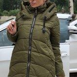 Зимняя куртка пуховик плотная плащевка аляска на синтепоне скл.1 арт.47187