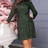 Повседневное женское платье из ангоры скл.1 арт.47178