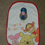 Слюнявчик детский с резинкой на шее Винни Пух Дисней.