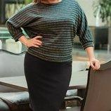 Костюм с юбкой ткань ангора итальянский креп хл размеры 50-58 скл.1 арт.47207