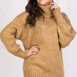 Теплый вязаный шерстяной турецкий свитер гольф скл.1 арт.47100