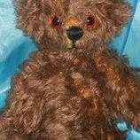 суперский коллекционный шарнирный Мишка Медведь ручная работа мохер из Англии 26 см