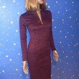 Ангоровое платье габриэла марсалового цвета размер 42 русский