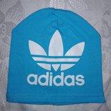 Шапка дитяча Adidas голуба детская голубая