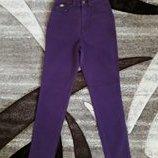джинсы высокая талия mom ягодные черника