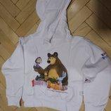 Кофта маша и медведь кофта с капюшоном, капюшонка худи киндер пингви