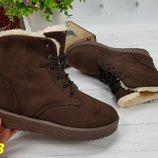 ботинки угги на меху зимние коричневые Хит продаж 35-39рр супер цена