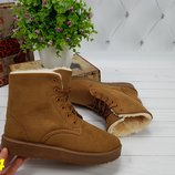 ботинки угги на меху зимние рыжие коричневые Хит продаж 35-39рр супер цена