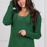 Теплый вязаный шерстяной турецкий свитер скл.1 арт.46991