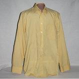 Рубашка мужская светло-желтая М,Воротник 39-40 см, б/у