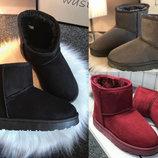 36-41рр Низкие черные серые бордовые угги уги, ботинки, сапоги женские