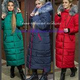 48-58 Зимнее женское пальто. мех Женский пуховик, Зимнее пальто пуховик, Молодежное пальто зимнее