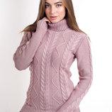 Женский вязаный свитер с горловиной, цвета разные