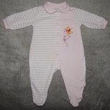 Трикотажный полосатый человечик Disney Baby на ребенка 6-9 месяцев.