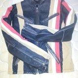Крутая байкерская куртка кожа. Кожанка, косуха. John Devin