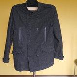Пальто коротке з шерстю на розмір XL Bona parte
