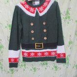 Новогодний свитер помощника санты/эльф