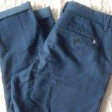 Укороченные котоновые брюки Slim Fit Pull & Bear 50