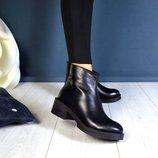 Стильные ботинки - натуральная кожа, замша В наличии Зима и деми