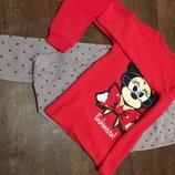 Пижама тёплая disney minnie mouse/ минни маус дисней из очень мягкого флиса 7-8 лет