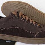 Италия классические туфли кеды мужские коричневые кожа с замшей