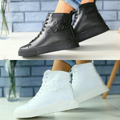 ea05f795 Зимние ботинки в стиле Gucci из натуральной кожи на овчине, ks-3149w ...