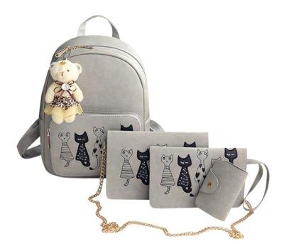 Набор женский рюкзак, клатч, кошелек и визитница.Цвет серый  510 грн ... ca235952a5c