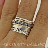10% скидка подписчикам Под Заказ I 100524 18 Кольцо серебряное кольцо размер 18