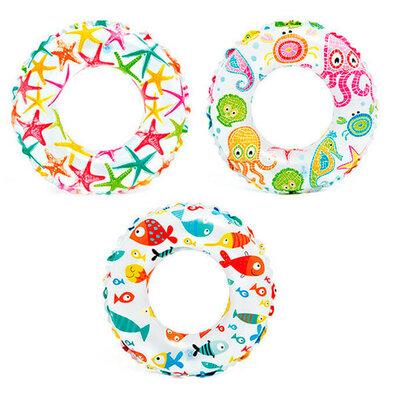 Детский надувной круг 59241 цветной, 61см, 3 вида, в кульке, 23,